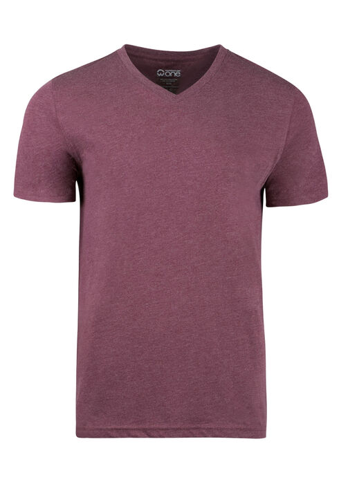 Men's Everyday V-neck Tee, Burgandy, hi-res