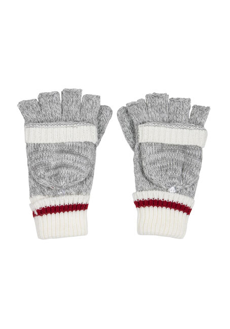 Ladies' Cabin Flip Mittens, GREY, hi-res