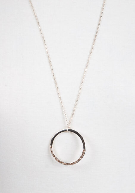 Ladies' Delicate Circle Necklace, ROSE GOLD, hi-res