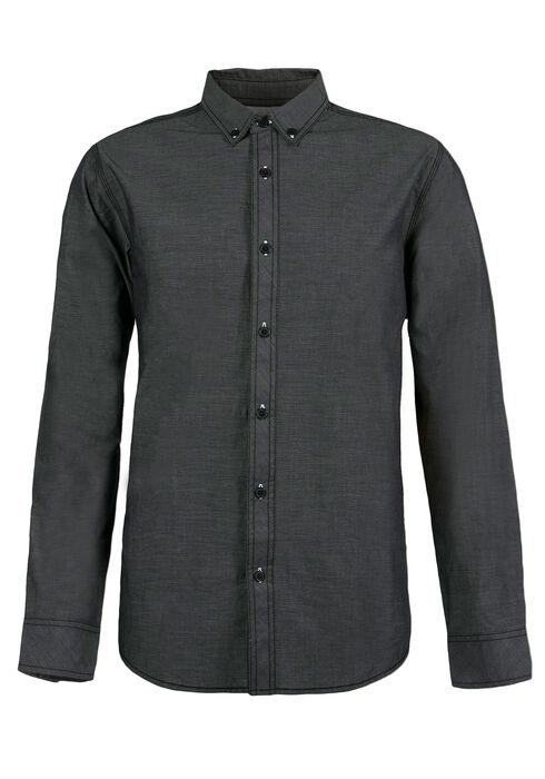 Men's Textured Shirt, CHARCOAL, hi-res