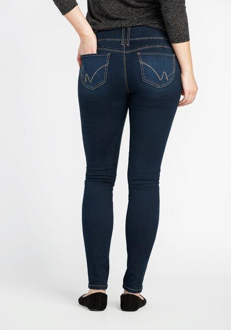 Ladies' Skinny Jeans, DARK WASH, hi-res