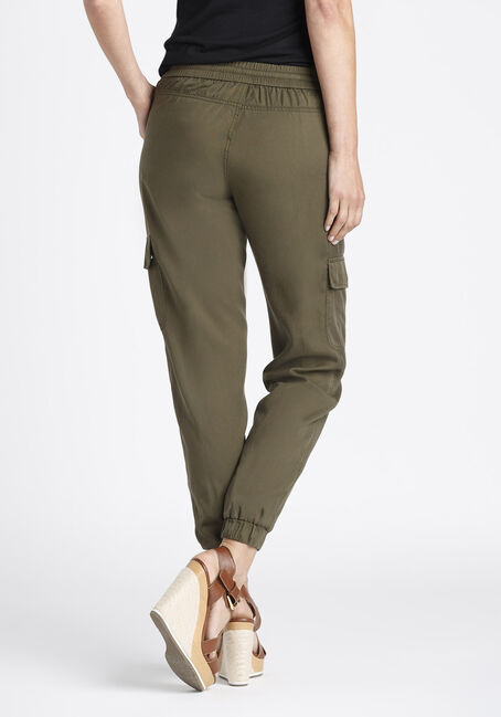 Ladies' Cargo Joggers, OLIVE, hi-res