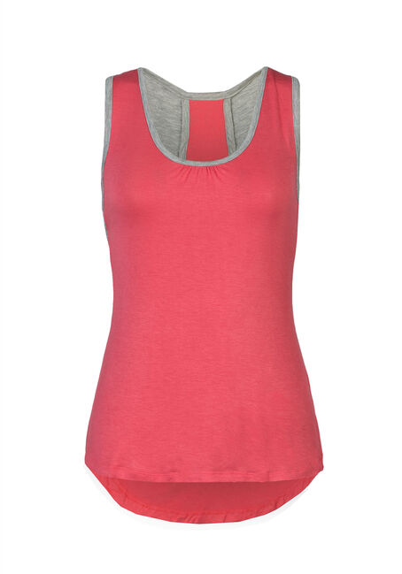 Ladies' Cut Out Tank, PEACH CORAL, hi-res