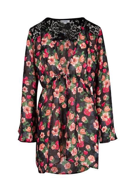 Ladies' Tie Front Kimono