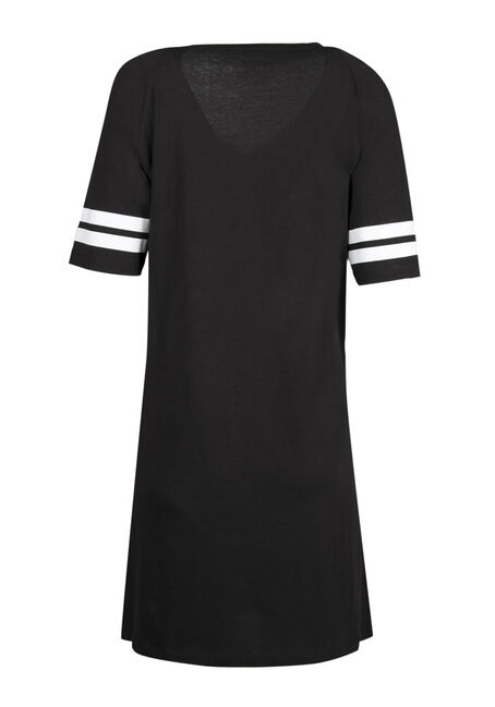 Ladies' Do Not Disturb Sleep Tunic, BLACK, hi-res
