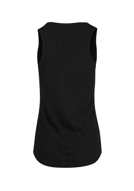 Ladies' Raw Edge Tank, BLACK, hi-res