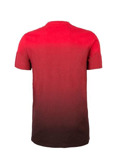 Men's Dip Dye Graphic Tee, RED, hi-res
