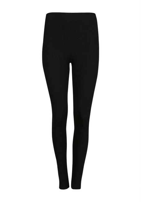 Ladies' Glitter Plush Legging