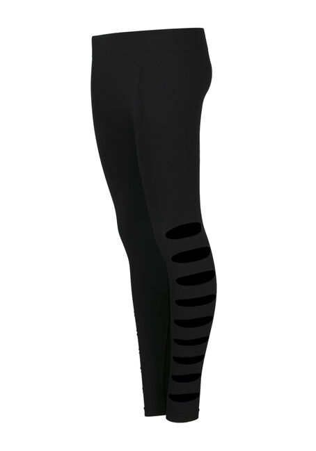 Ladies' Shredded Legging, BLACK, hi-res