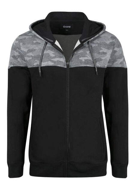 Men's Camo Colour Block Hoodie