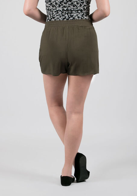 Ladies' Tie Front Soft Short, MOSS, hi-res