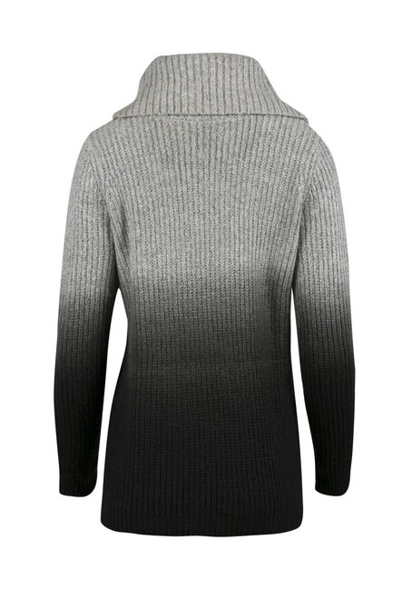 Ladies' Ombre Sweater, IVORY/BLACK, hi-res
