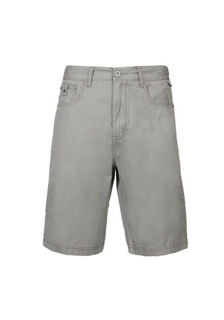 Men's Poplin Five Pocket Short, STONE, hi-res