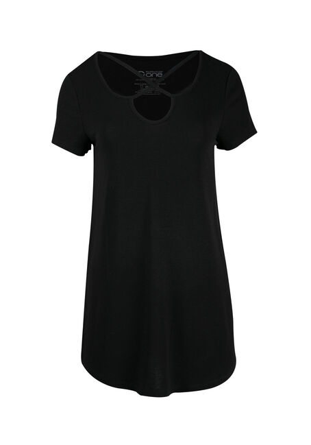 Ladies' Cage Neck Tunic Tee