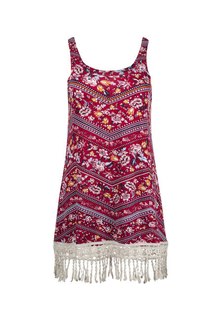 Ladies' Floral Crochet Hem Tank