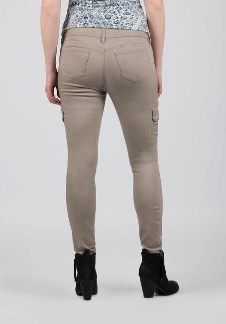 Ladies' Skinny Cargo Pants, SAND, hi-res
