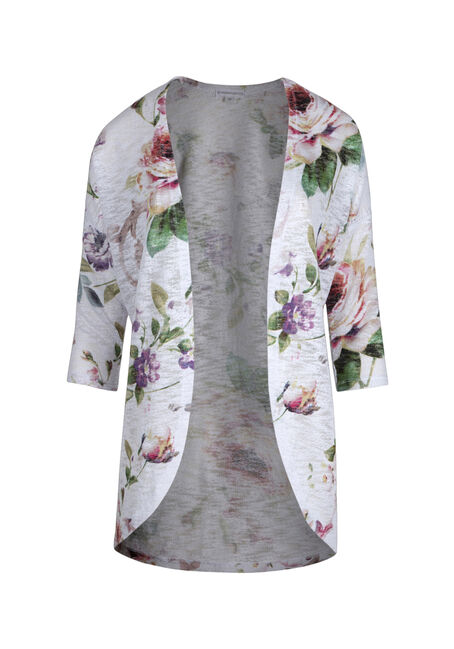 Ladies' Floral Print Cardigan