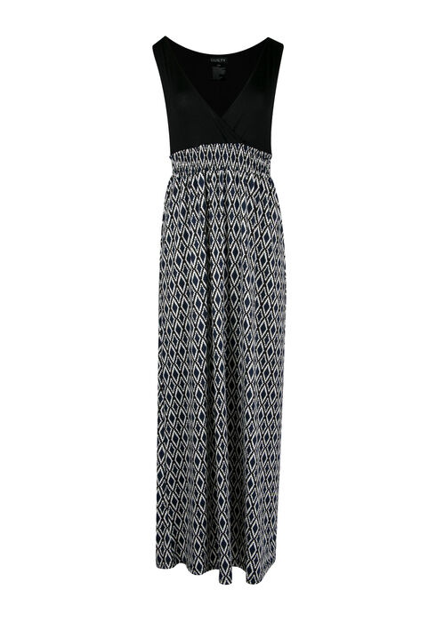 Ladies' Mosaic Maxi Dress, NAVY BLACK, hi-res