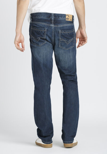 Men's Coolmax Slim Straight Jeans, DARK VINTAGE WASH, hi-res
