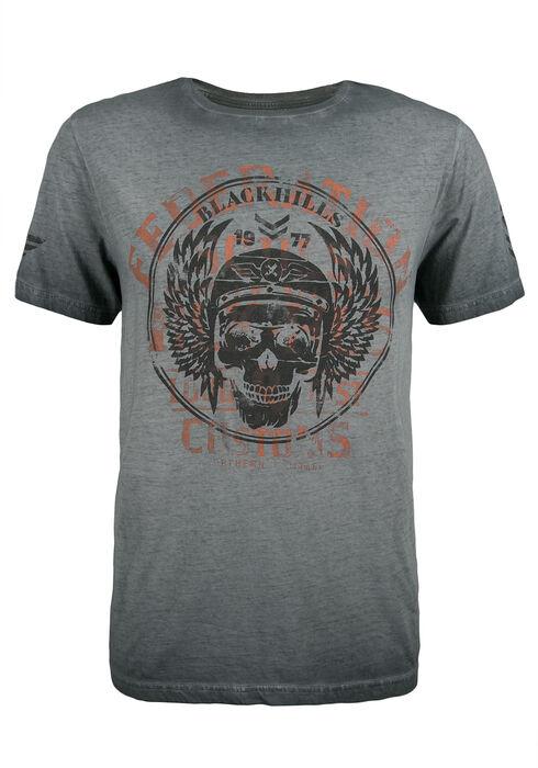 Men's Black Hills Skull Graphic Tee, CHARCOAL, hi-res