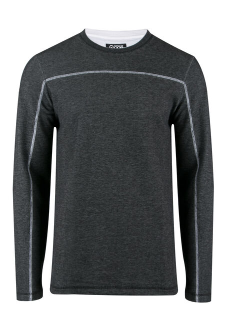 Men's Rib Knit Crew Neck Top