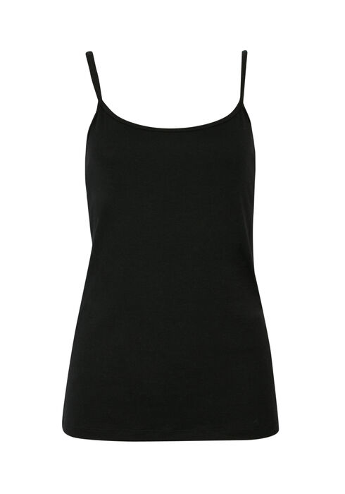 Ladies' Adjustable Strap Tank, BLACK, hi-res