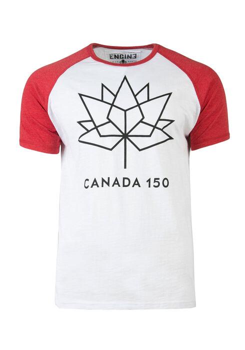 Men's Canada 150 Baseball Tee, WHITE, hi-res