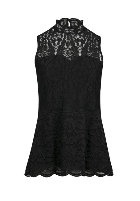 Ladies' Lace Peplum Tank