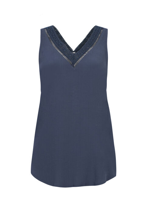 Ladies' Split Back Tank, COASTAL BLUE, hi-res