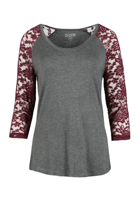 Ladies' Lace Baseball Tee