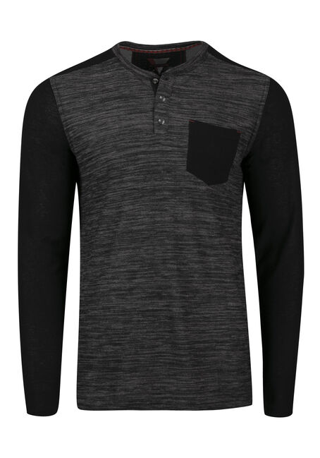 Men's Henley Pocket Tee