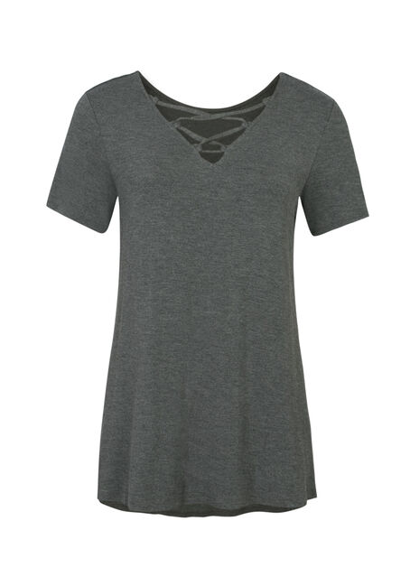 Ladies' Cage Front Tee