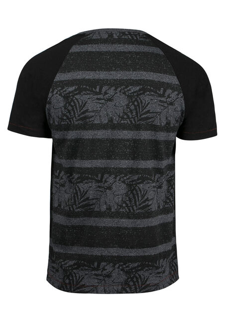 Men's Everyday Tropical Tee, BLACK, hi-res