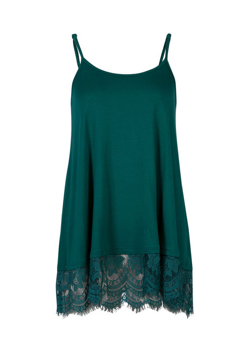 Ladies' Lace Trim Tunic Tank, JUNIPER, hi-res