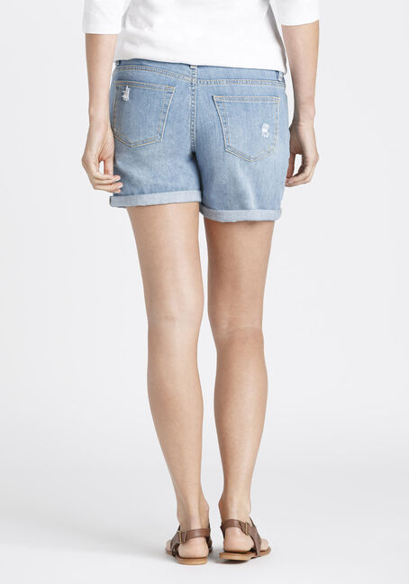 Ladies' Mid Length Short, LIGHT WASH, hi-res