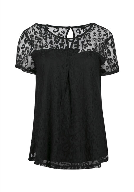 Ladies' Animal Lace Top