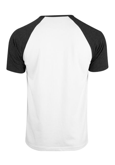 Men's Stripe Raglan Tee, CHARCOAL, hi-res