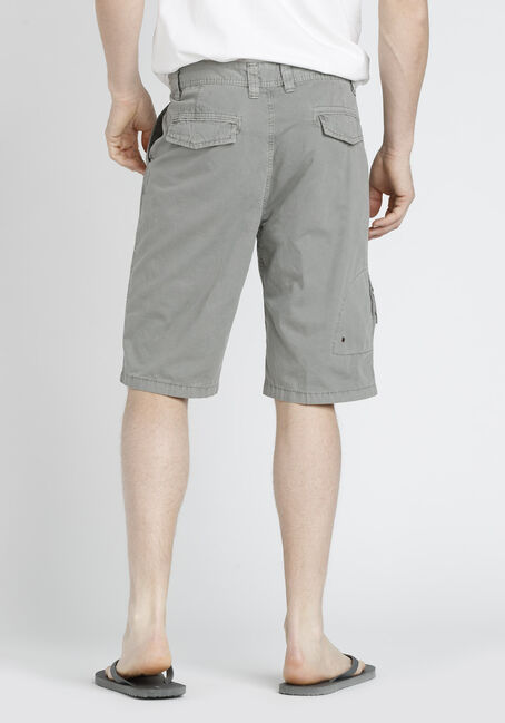 Men's Washed Twill Shorts, STONE, hi-res