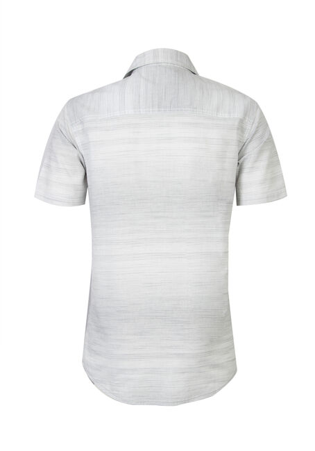 Men's Mini Stripe Shirt, WHITE, hi-res