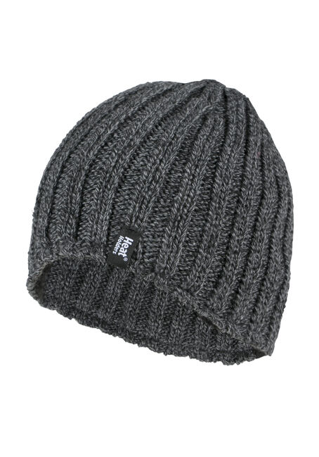 Men's Thermal Ribbed Hat, GREY, hi-res