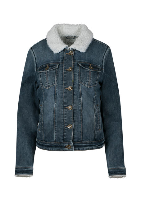 Ladies' Sherpa Lined Jean Jacket