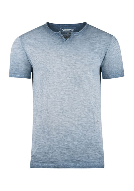 Men's Vintage Split V-neck Tee