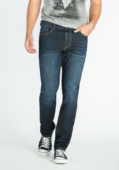 Men's Slim Fit Jeans, DARK WASH, hi-res