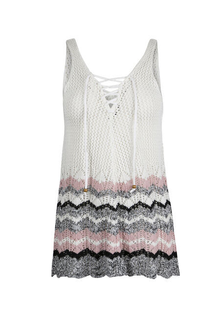 Ladies' Lace Up Sweater Tank