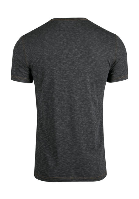 Men's Everyday Split V-neck Tee, CHARCOAL, hi-res