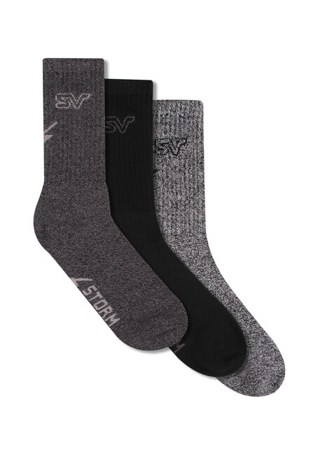 Men's 3 Pack Storm Valley Socks