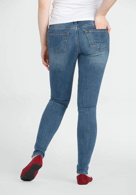 Ladies' Embroidered Skinny Jeans, LIGHT VINTAGE WASH, hi-res