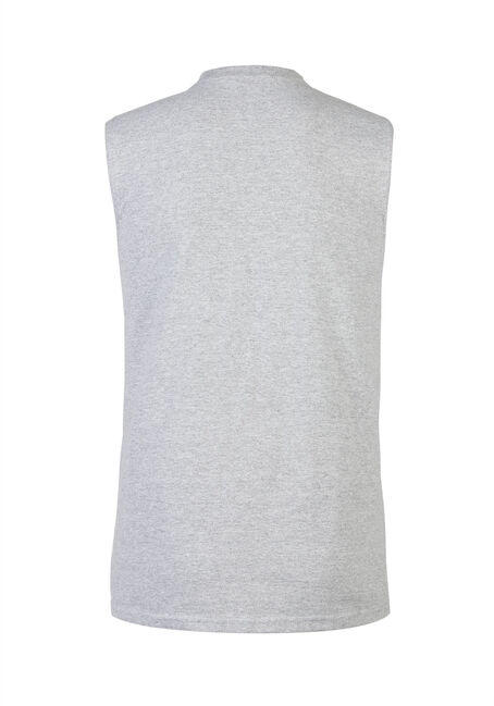 Men's I Flexed Tank, HEATHER GREY, hi-res