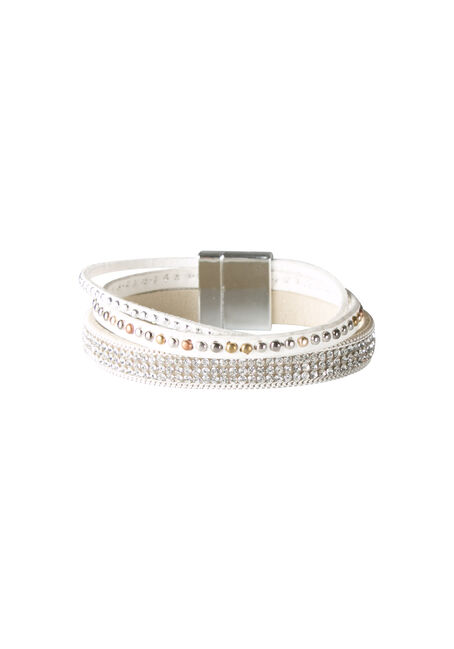Ladies' Three Row Magenetic Bracelet