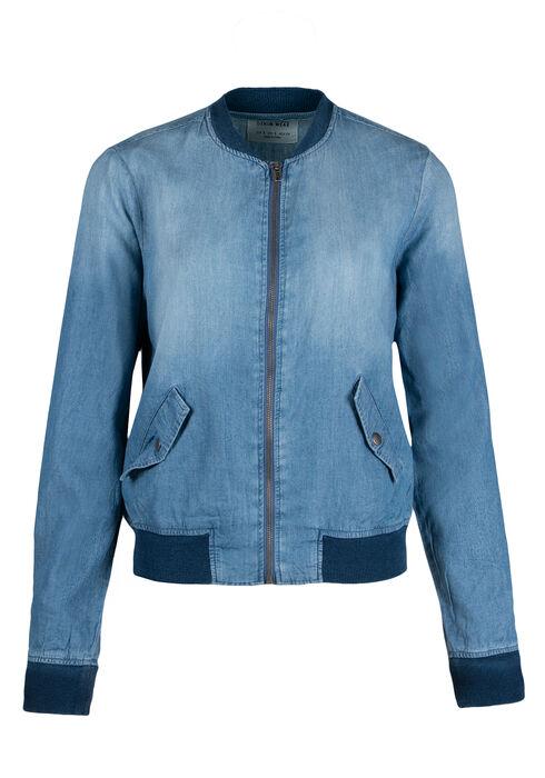 Ladies' Bomber Jacket, HEAVY VINTAGE, hi-res